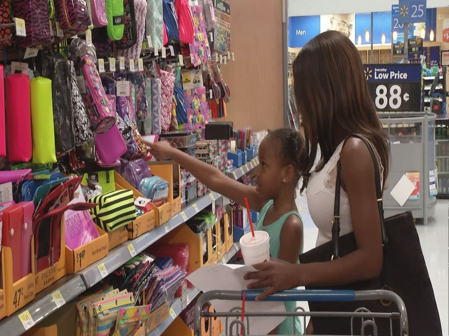 Mother and Daughter Shop For Back-To-School Supplies_27068