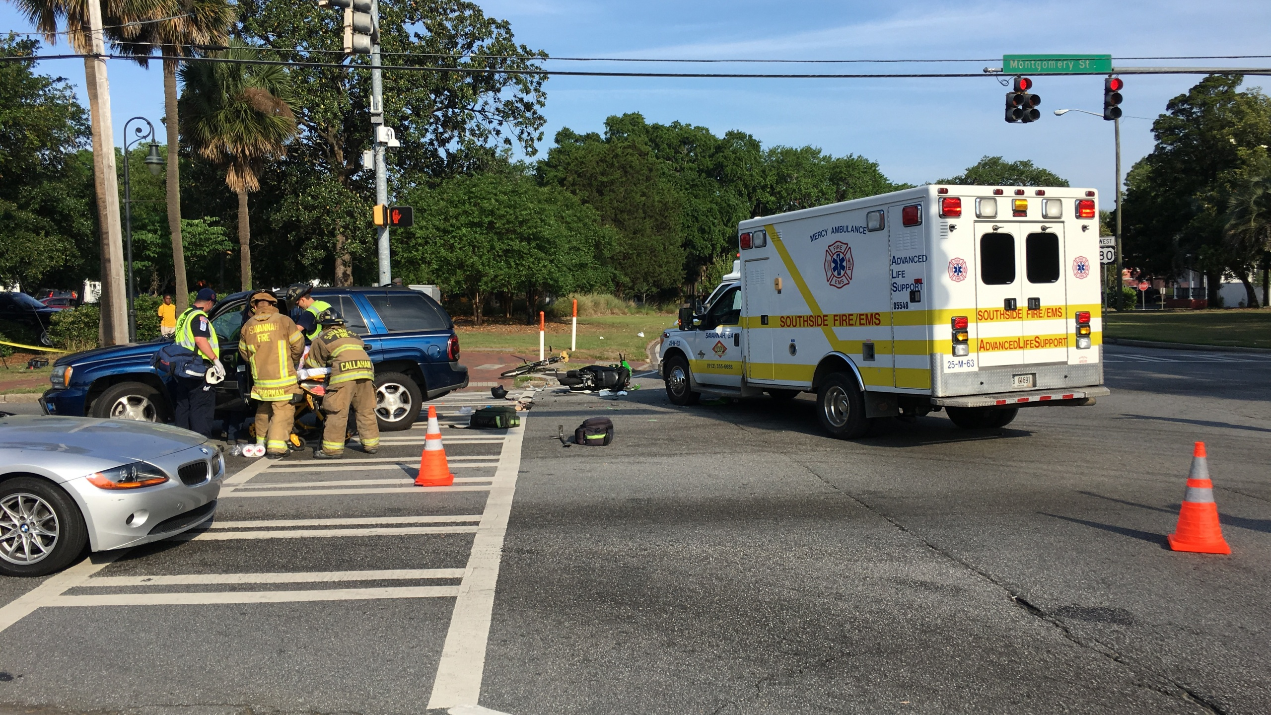 Roads reopened after accident on Victory Drive
