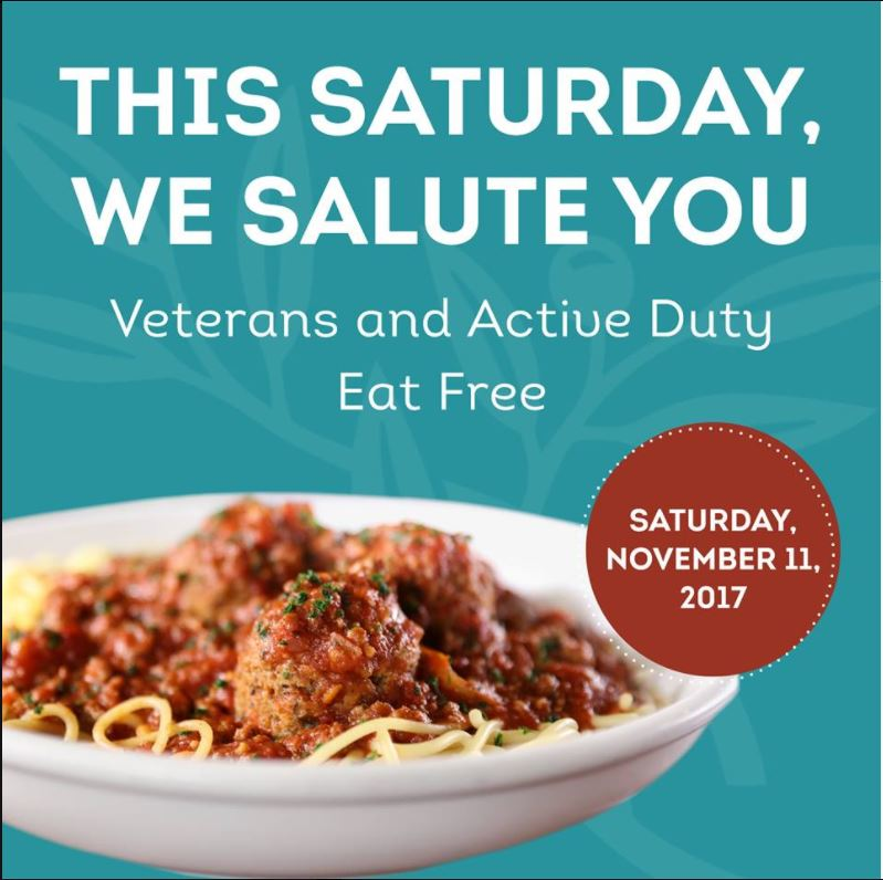 Free Meals Treats For Military Members On Veterans Day