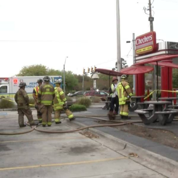 Fire at Checkers on Abercorn Street