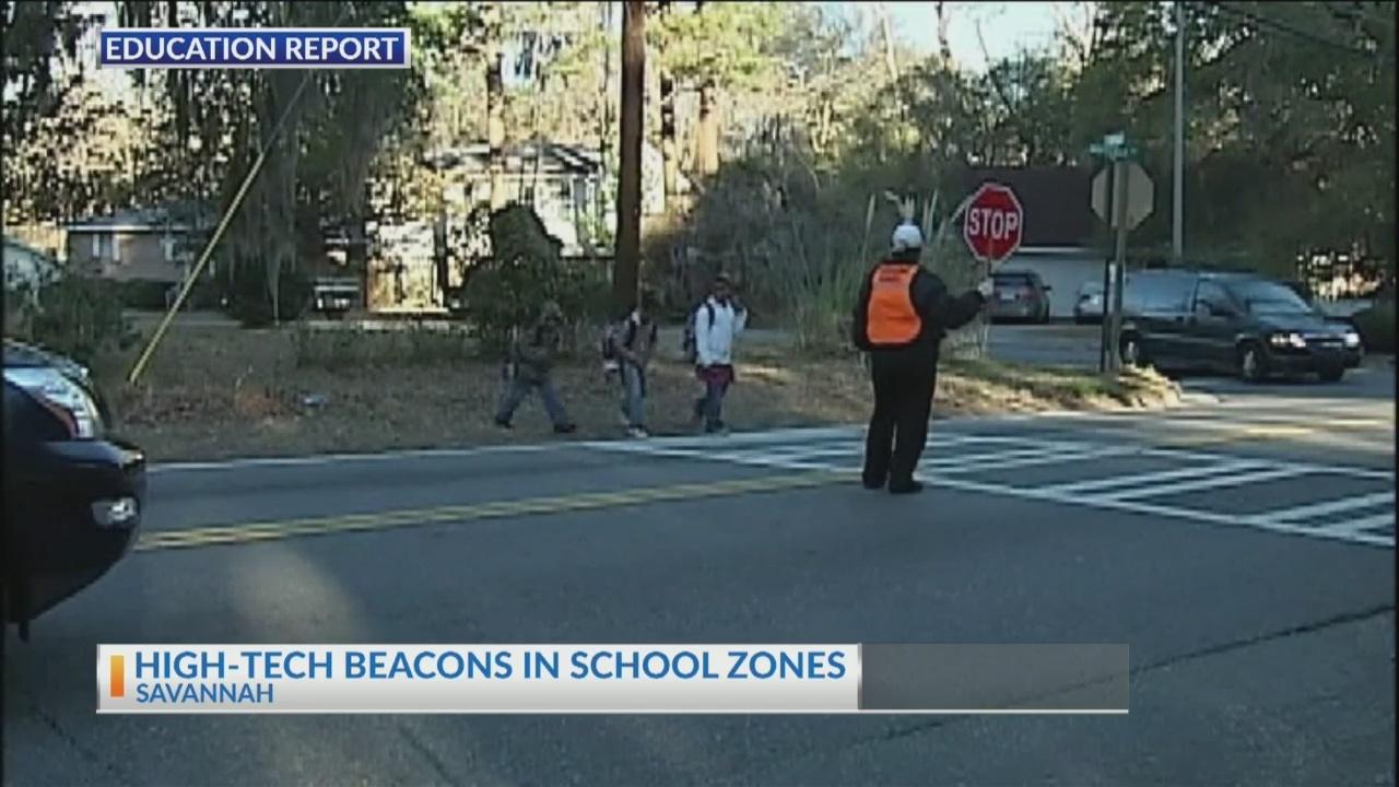 High-tech beacons in school zones