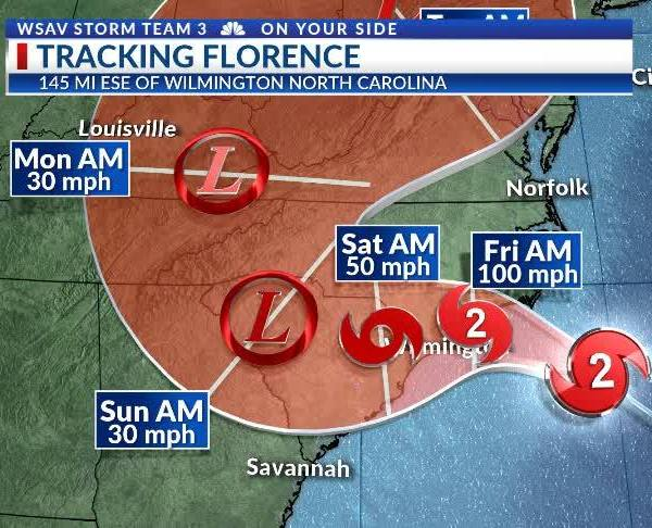 11am Thursday Florence Update