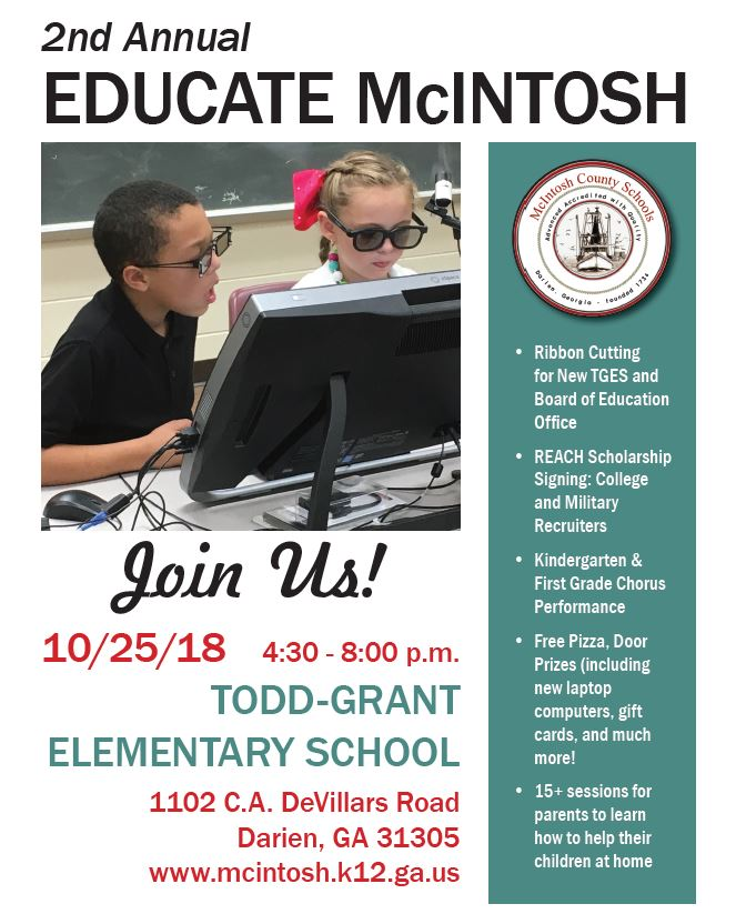 Get ready for the 2nd annual 'Educate McIntosh' event