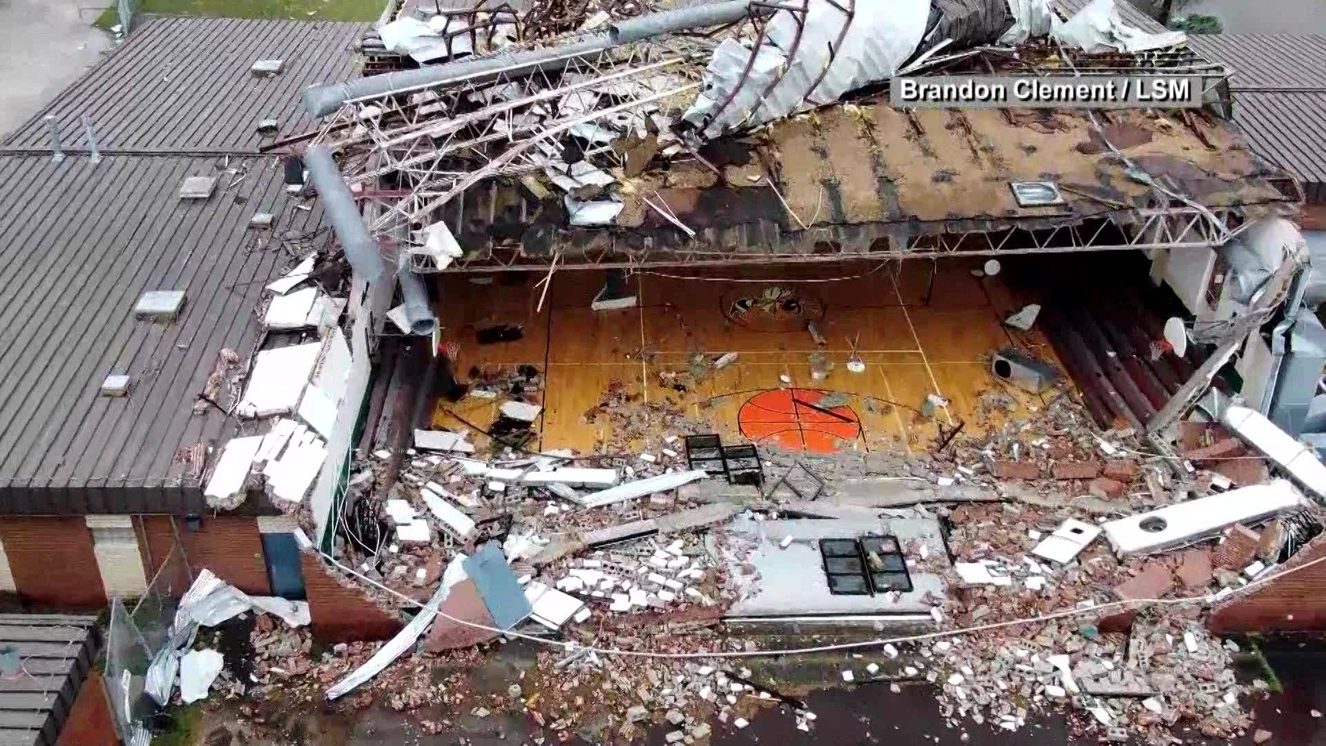 Video: Drone footage from Panama City storm damage