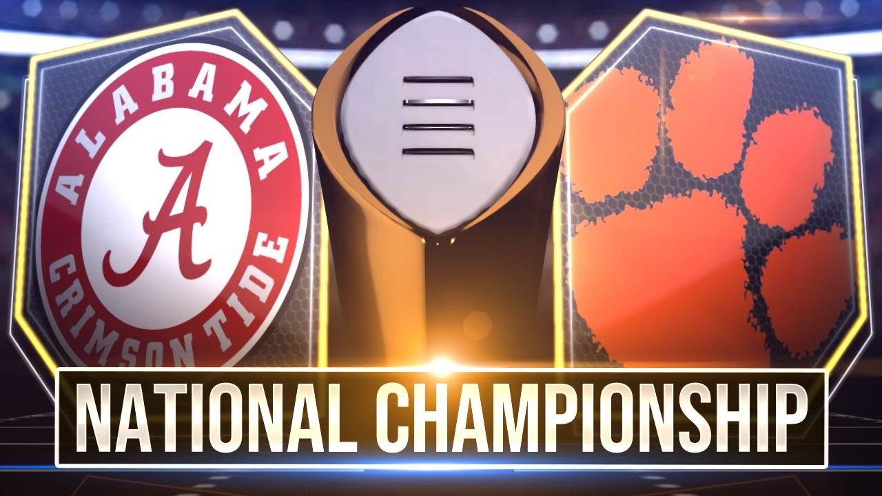 Alabama vs. Clemson in CFP National Championship
