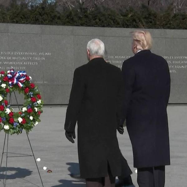 Wreath laying at MLK Memorial