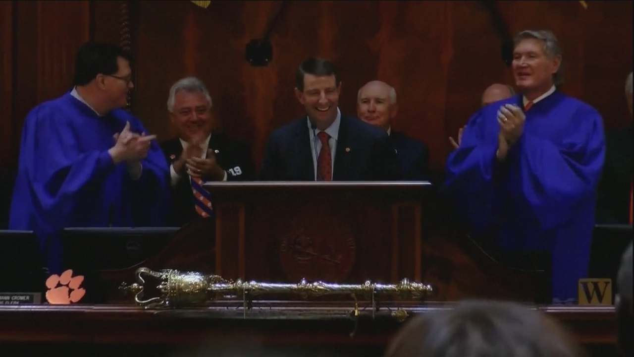Clemson head football coach addresses General Assembly