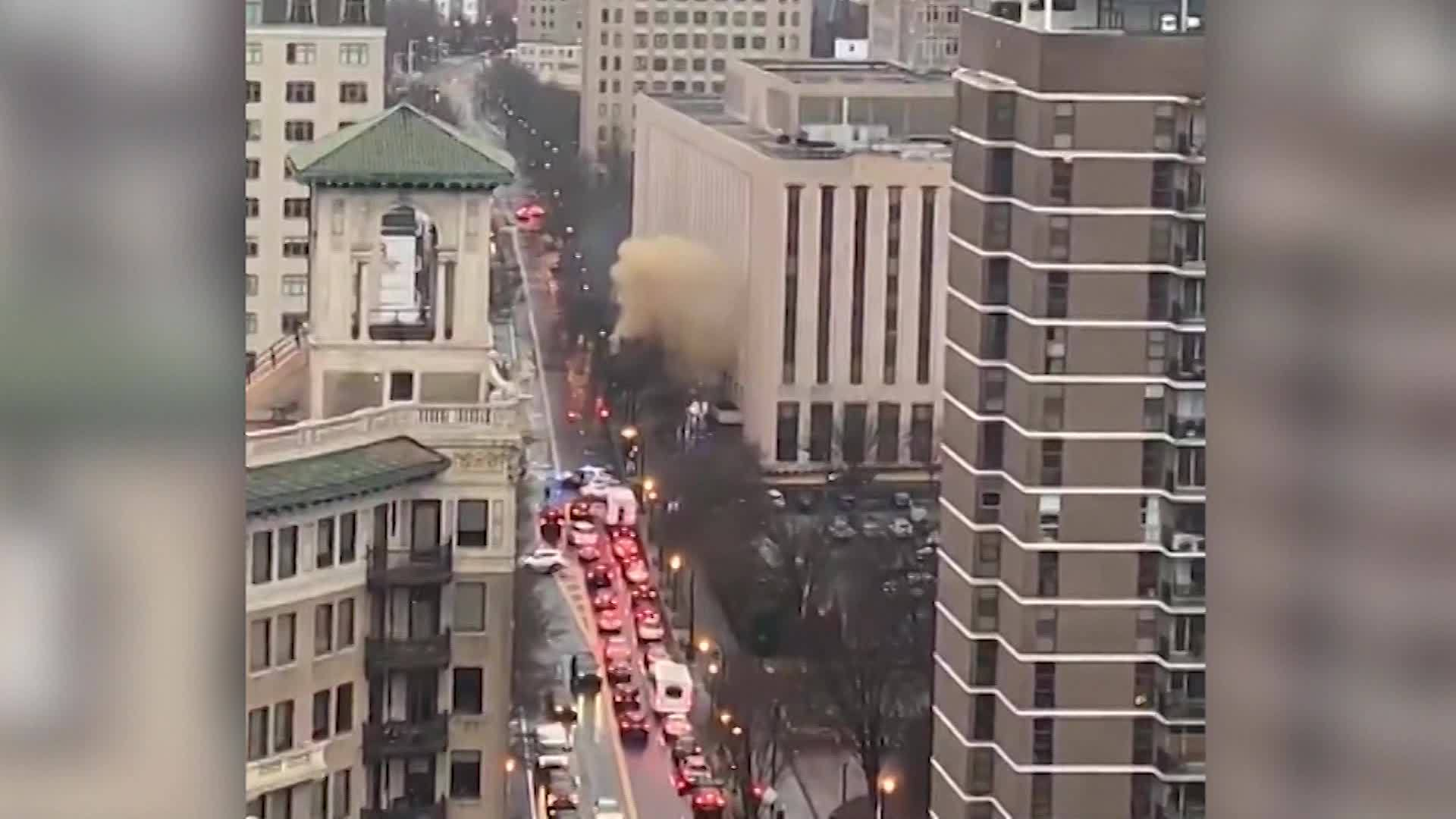 VIDEO: Smoke billows in ATL street following reports of explosions