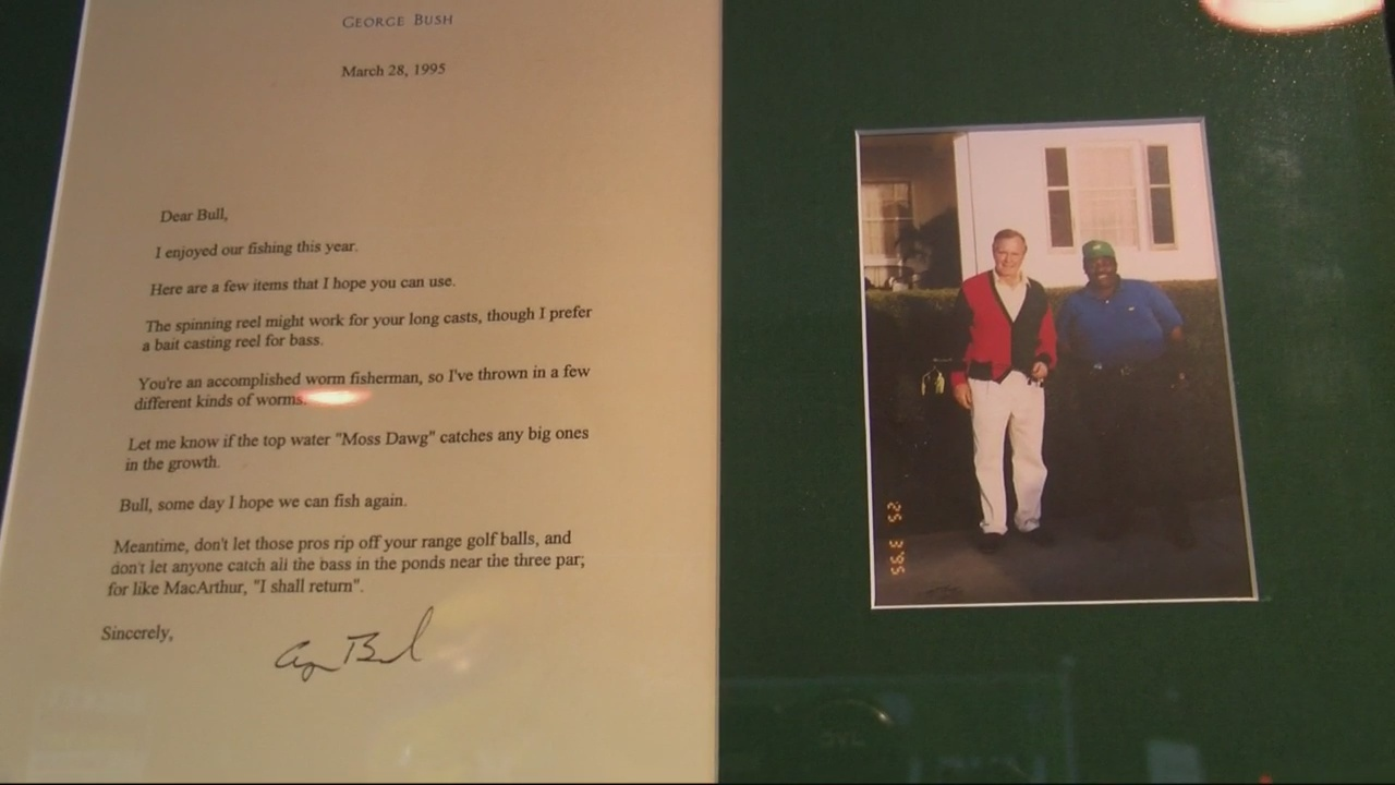 Former Masters caddy pen pal relationship with George H. W. Bush