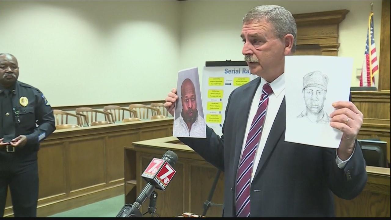 Suspected serial rapist behind bars