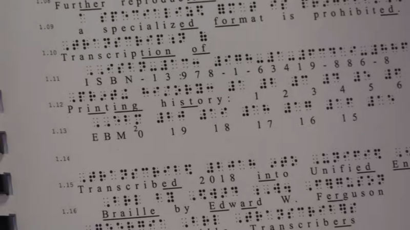 Georgia inmates make Braille textbooks