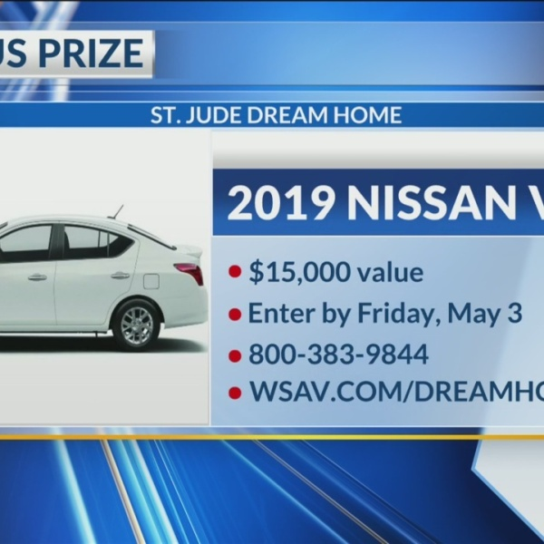 Bonus prize in 2019 St. Jude Dream Home contest