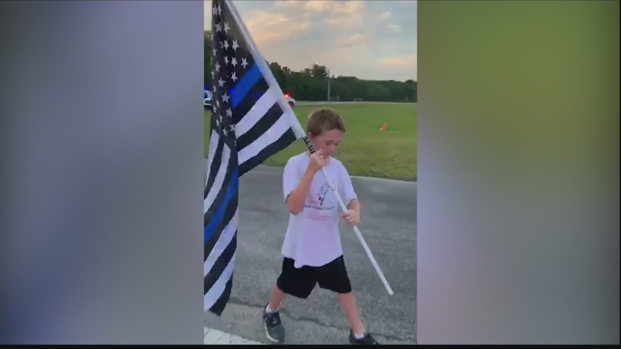 Florida boy pays tribute to fallen SPD officer