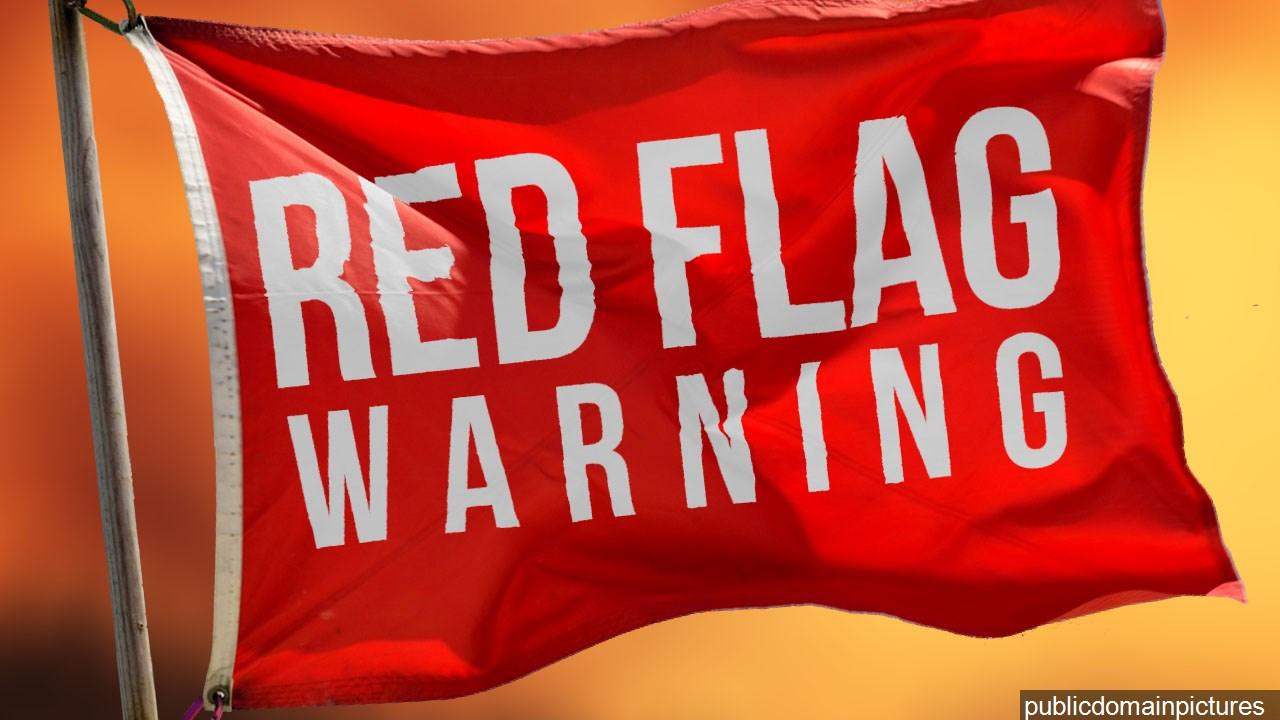 Red flag fire alert for SC