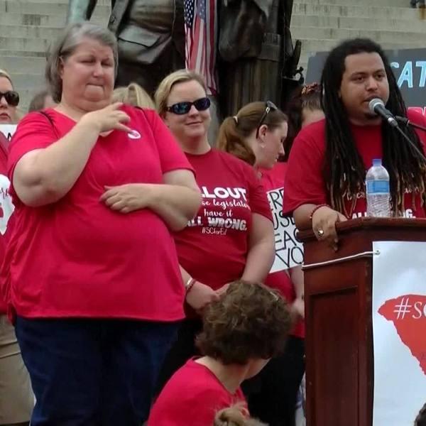 VIDEO: South Carolina teacher rally