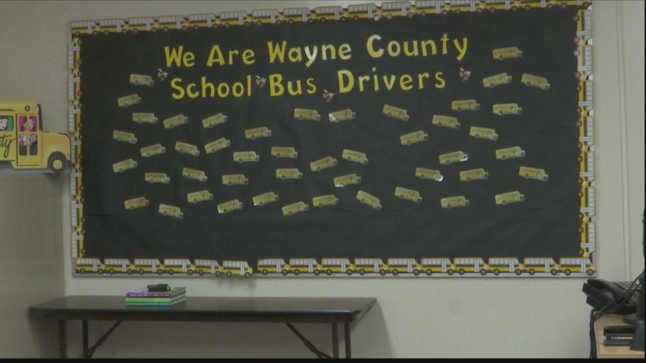 Wayne County School System experiencing a shortage of bus drivers