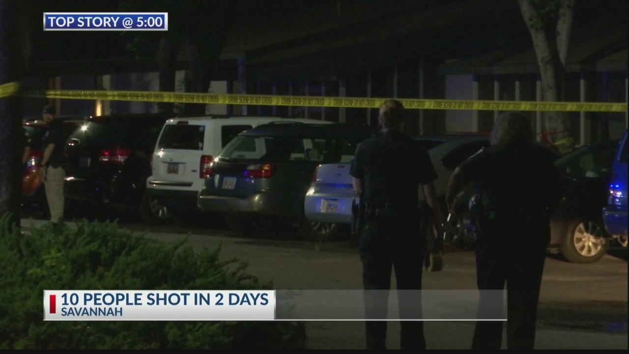 10 people shot in 48 hours in Savannah