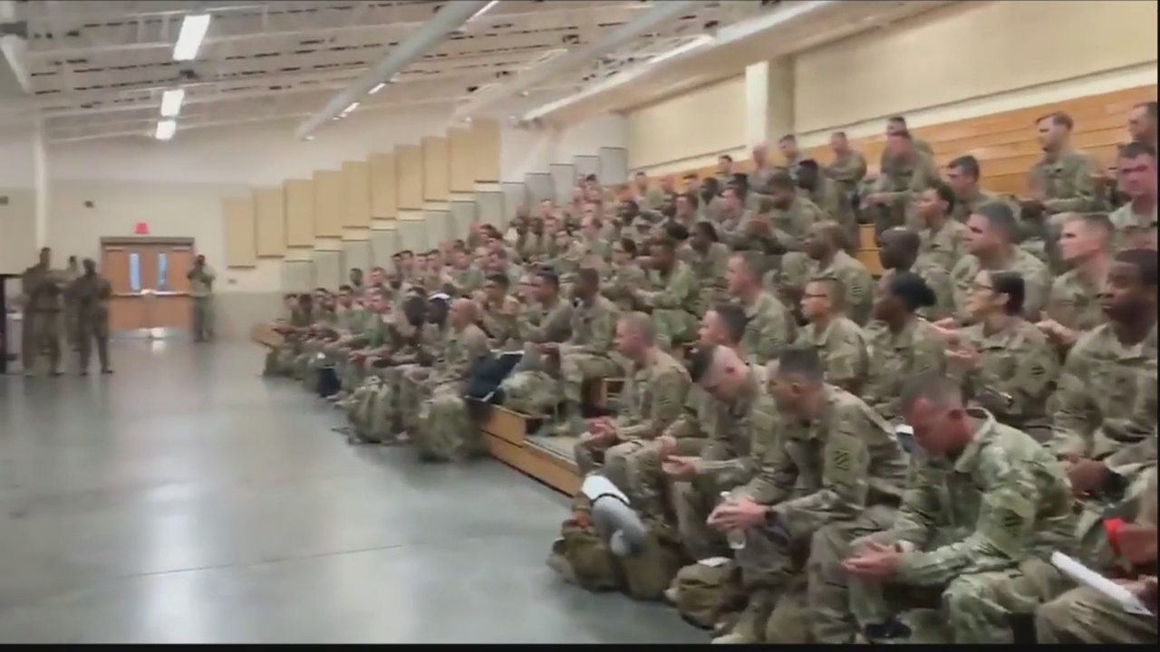 Gov. Kemp greets troops returning home from Afghanistan