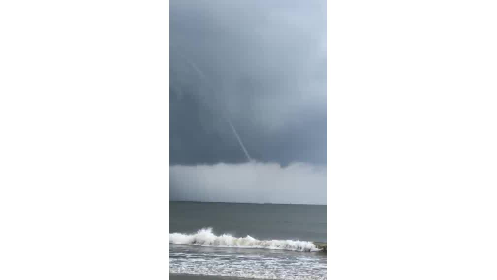Waterspout spotted at Tybee Island