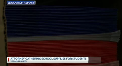 Toombs county attorney gathering school supplies for students | WSAV-TV