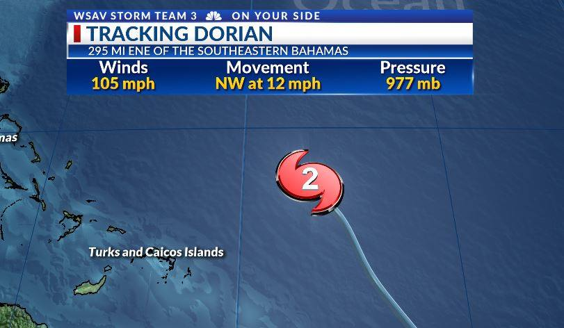 Dorian stronger, now a category 2 hurricane | WSAV-TV