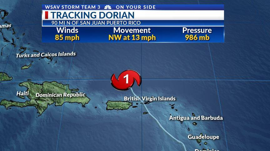 Dorian: Hurricane Hunters find storm stronger | WSAV-TV