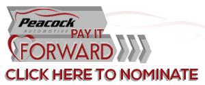 Peacock Pay It Forward Organization Nomination