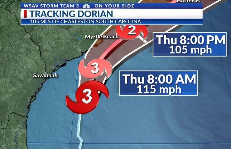 DORIAN LIVE: The latest updates on Hurricane Dorian | WSAV-TV