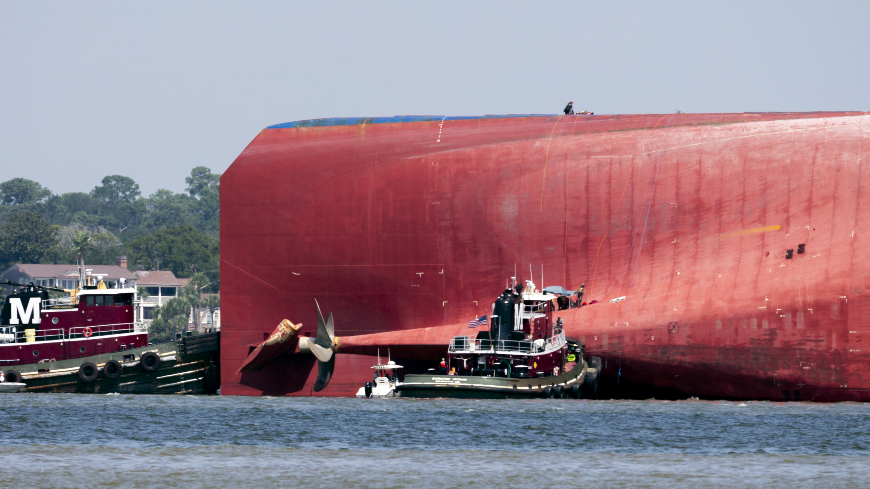 Final crew member rescued from cargo ship, Coast Guard says