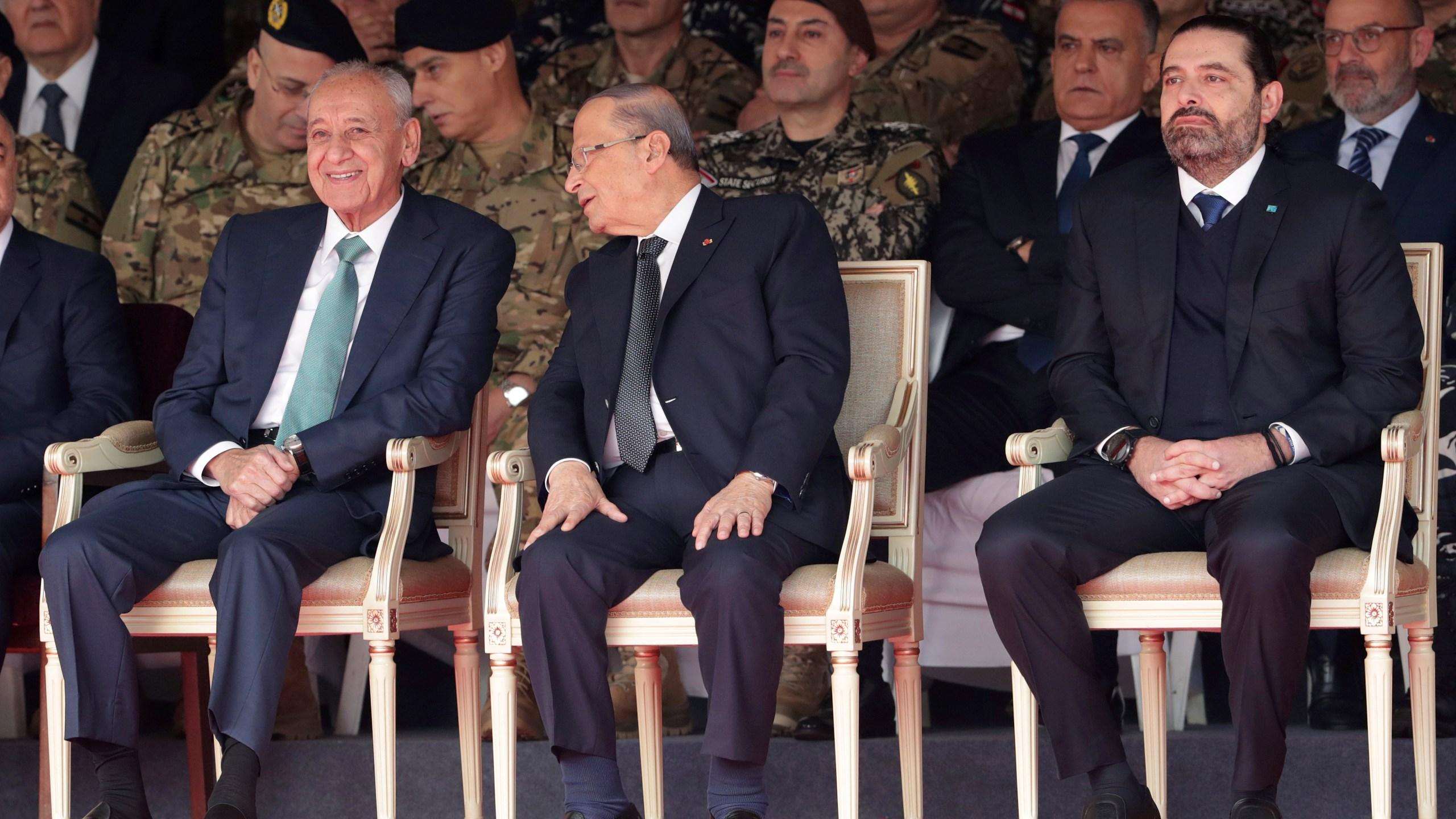 Michel Aoun, Saad Hariri, Nabih Berri