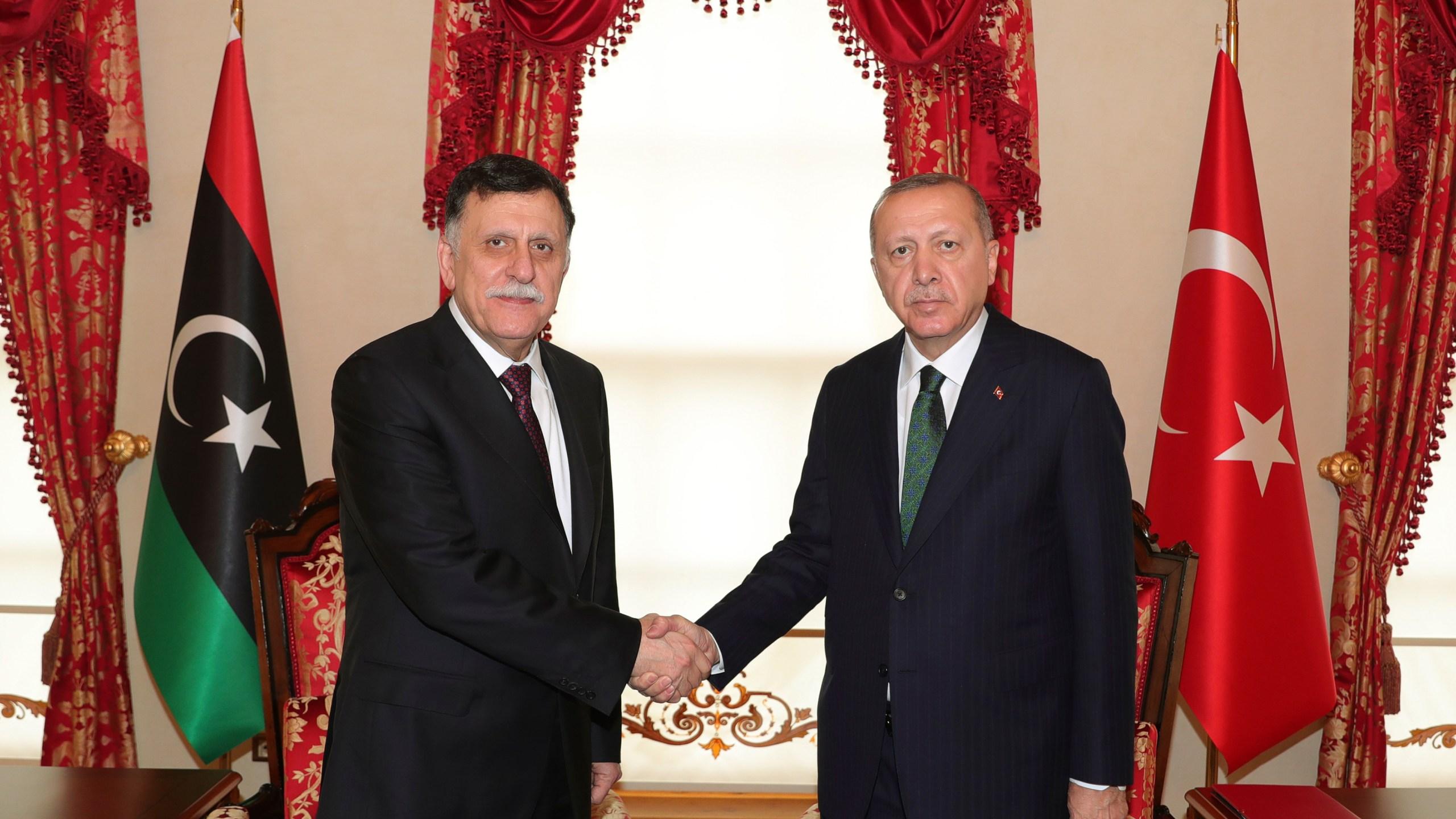 Recep Tayyip Erdogan, Fayez Sarraj