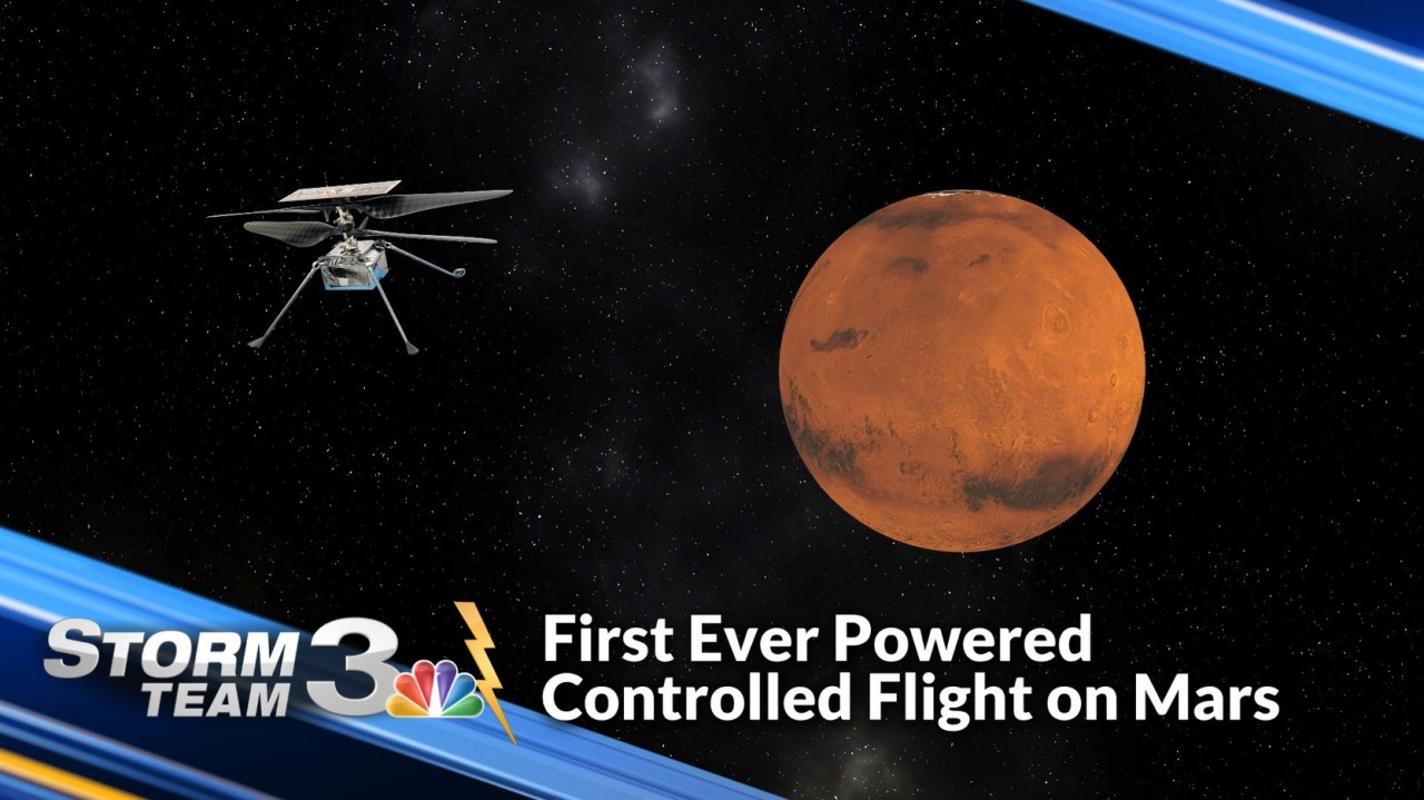 WSAV NOW WEATHER: First-ever powered controlled flight from Mars possible next week